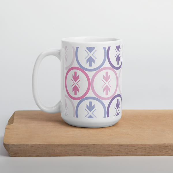 Mug Pink and Purple Logo