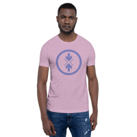 Short-Sleeve Unisex T-Shirt Light Purple Logo