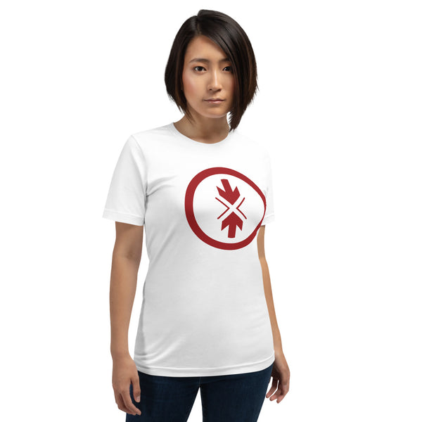 Short-Sleeve Unisex T-Shirt Original Red Logo