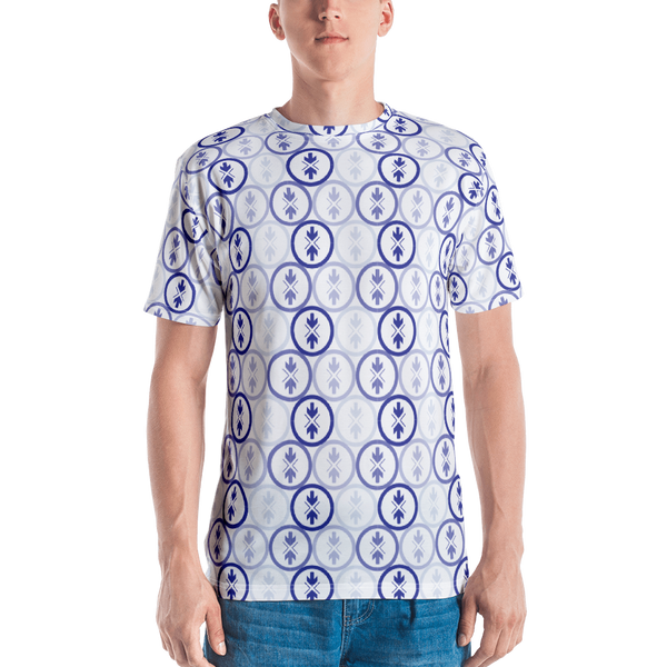 All-Over T-shirt Blue and Purple Logo