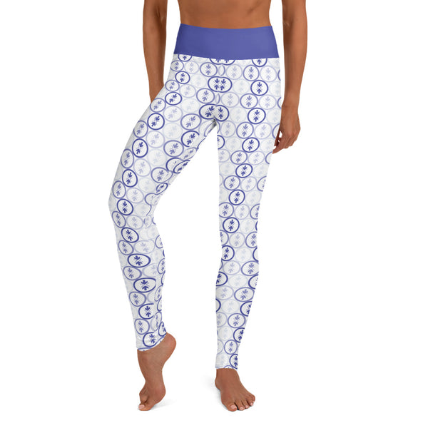 Yoga Leggings Blue and Purple Logo