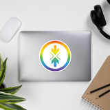 Bubble-free stickers Rainbow Logo
