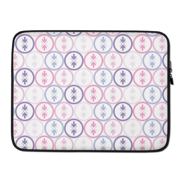 Laptop Sleeve Pink and Purple Logo