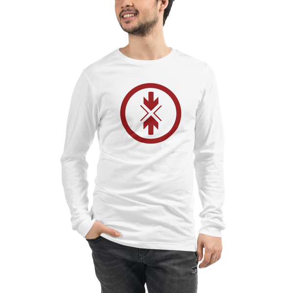 Unisex Long Sleeve Tee Original Red Logo