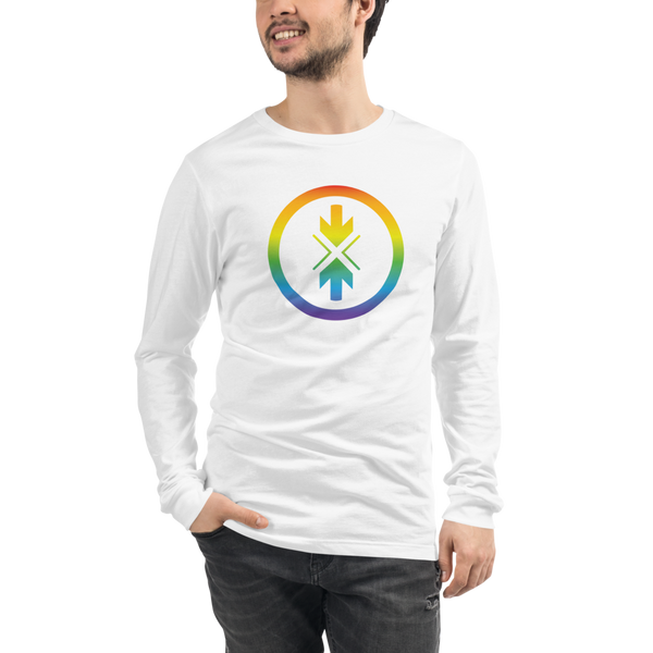 Unisex Long Sleeve Tee Rainbow Logo