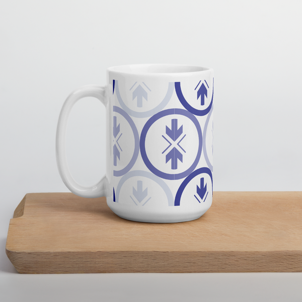 Mug Blue and Purple Logo