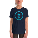 Youth Short Sleeve T-Shirt Gradient Blue Logo