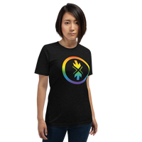 Short-Sleeve Unisex T-Shirt Rainbow Logo