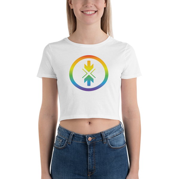 Women's Crop Tee Rainbow Logo