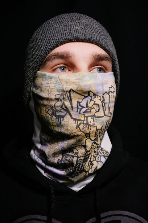 NY Graffiti Train Washable Face Mask