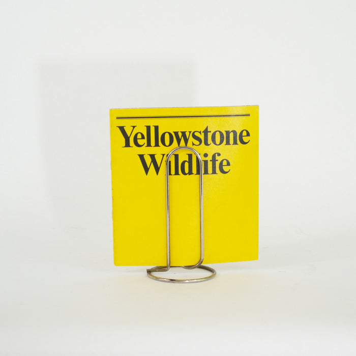 1972 Yellowstone National Park Wildlife Booklet