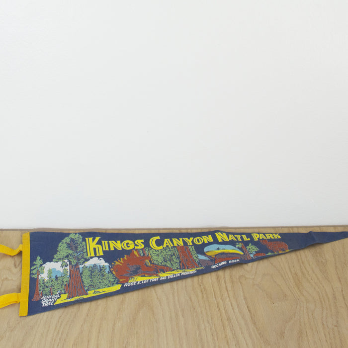 1960's Kings Canyon National Park Pennant