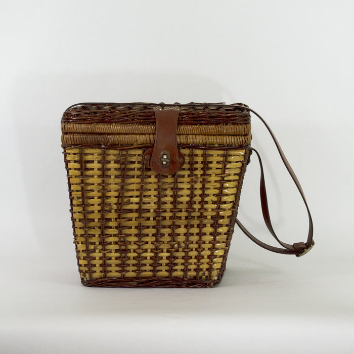 1970'S Wicker Picnic Basket