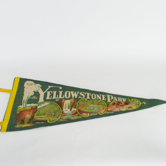 1939 Yellowstone National Park Pennant