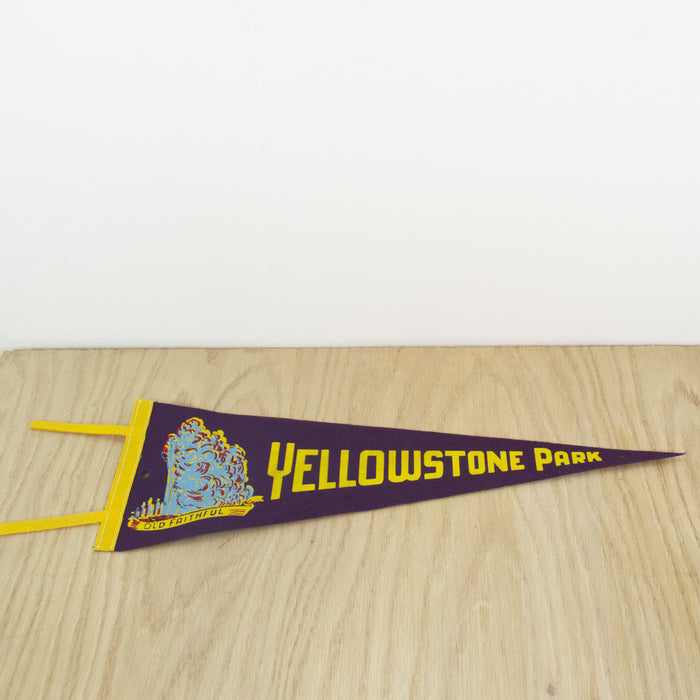 1960's Yellowstone National Park Pennant