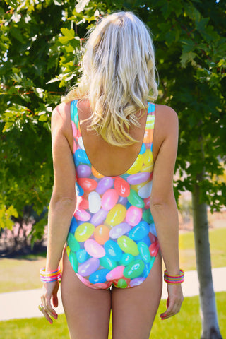 Plus Size Jelly Bean One Piece Swimsuit