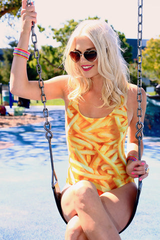 Plus Size French Fries Swimsuit