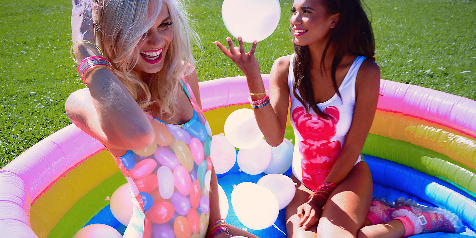 Jelly Bean And Gummy Bear One-Piece Swimsuits