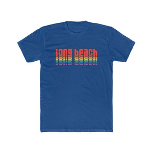Delta Retro-Inspired Long Beach Cotton Crew Tee