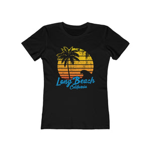 Beta Retro-Inspired Long Beach Fem Fitted Tee