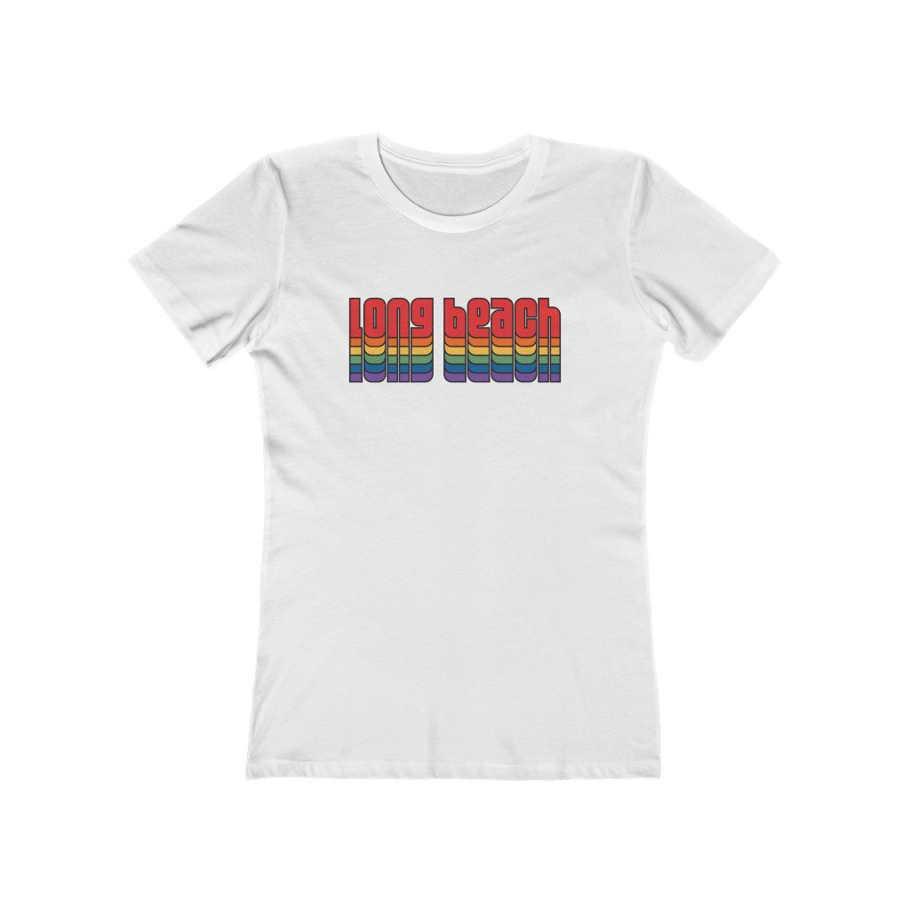 Delta Retro-Inspired Long Beach Fem Fitted Tee