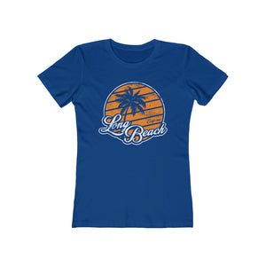 Charlie Retro-Inspired Long Beach Fem Fitted Tee