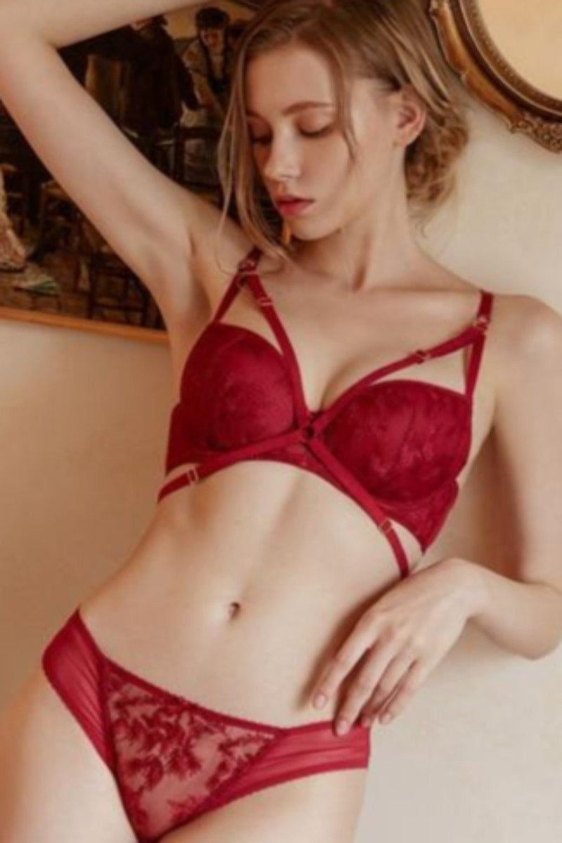 Ensemble en denTelle Rouge - ANGEL