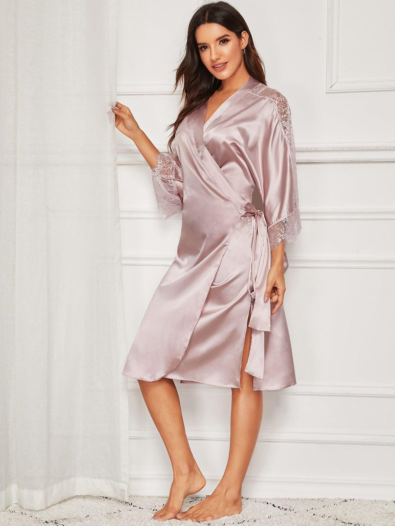 Robe en dentelle Rose pale - COCO - MLPR Paris