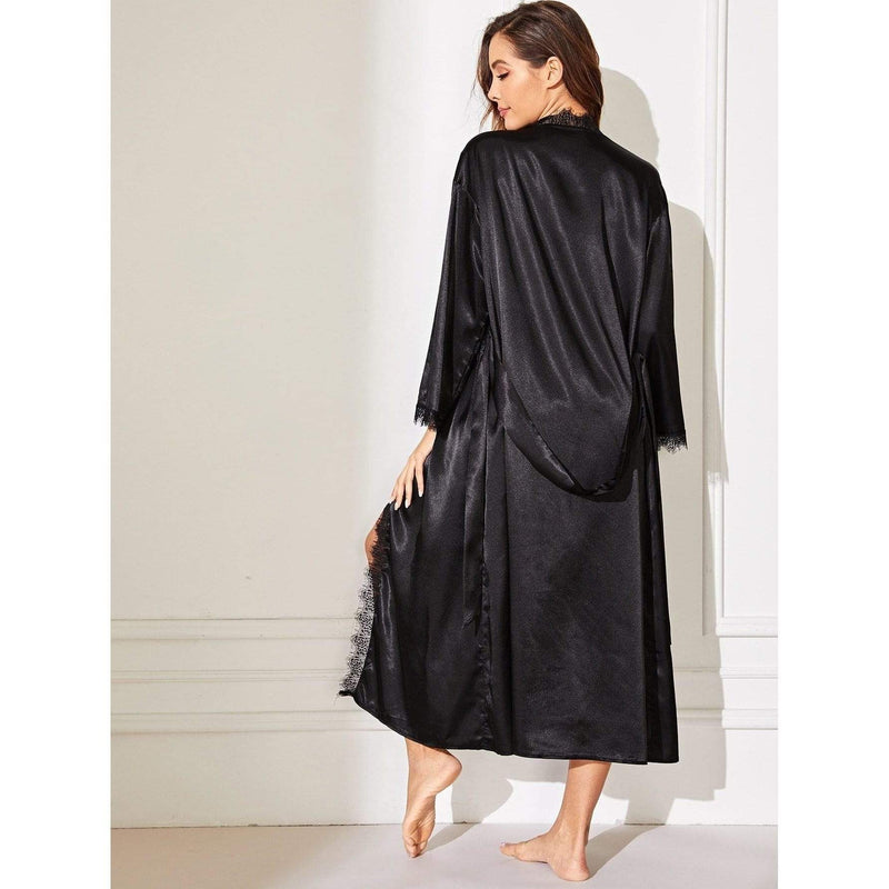 Robe satin Noir - VERIA - MLPR Paris