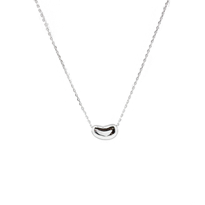Sterling Silver Plain Tiffany Bean Necklace