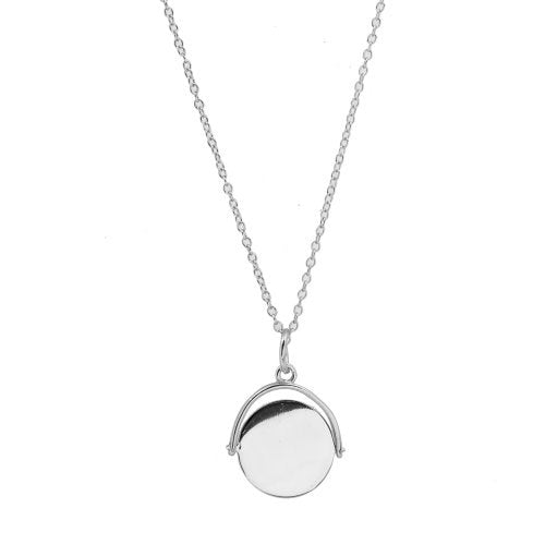 Silver Flippable Coin Necklace