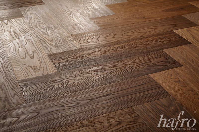 Lotto 50/100m² Lord Parquet HAFRO Rovere Affumicato  600x150x15mm - Eternal Parquet