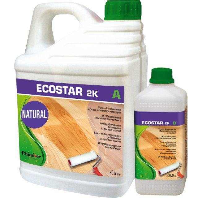 Ecostar 2k natural vernice all'acqua per parquet effetto extra opaco 5+0.5L - Eternal Parquet