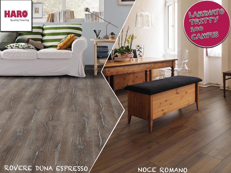 "STOCK DA 50MQ O BANCALE LAMINATO ""TRITTY 100 CAMPUS"" HARO 8x243x1282mm - Eternal Parquet"