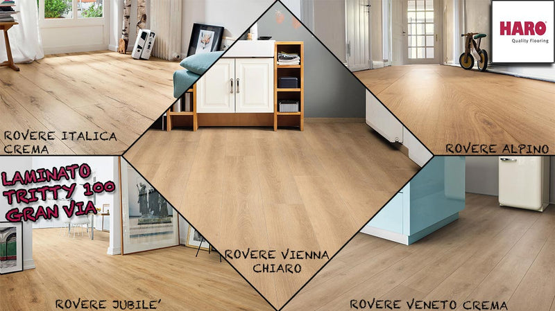 "LAMINATO CON PANNELLO SILENT CT IN OFFERTA ""TRITTY 100 GRAN VIA 4B"" HARO 8x243x2200mm - Eternal Parquet"