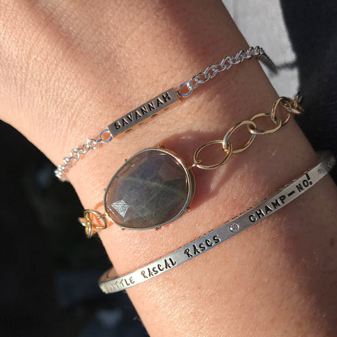 Stacked Bracelets with Meaning