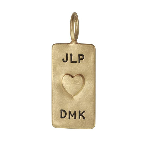 Double Monogram and Date ID Tag