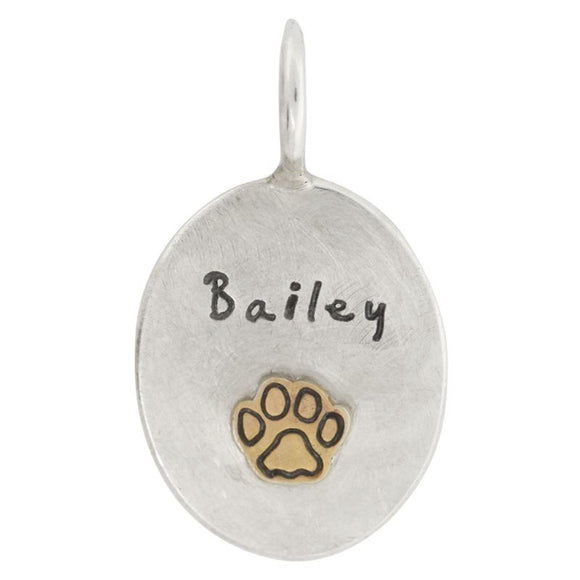 Pet Name Oval Charm