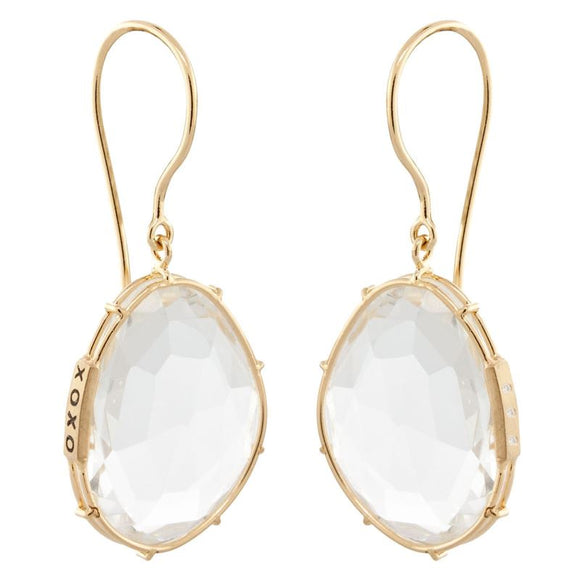 White Topaz Harriet Stone Earrings