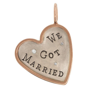 We Got Married Heart Charm
