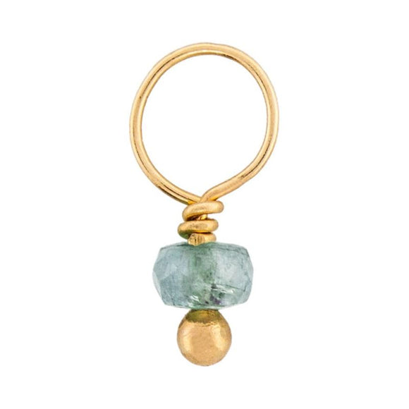 Aquamarine Faceted Rondelle Gemstone