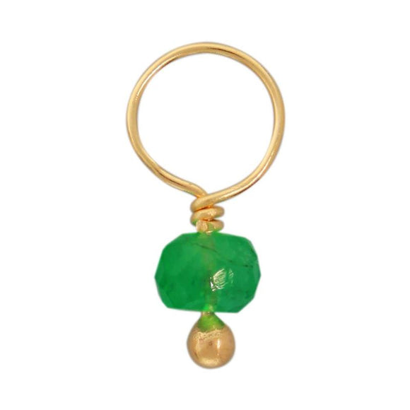 Emerald Faceted Rondelle Gemstone
