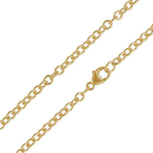 3mm Yellow Gold Chain