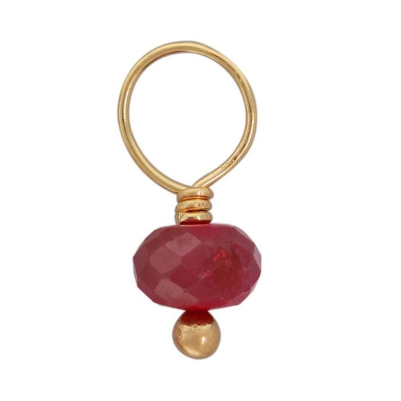 Ruby Faceted Rondelle Gemstone