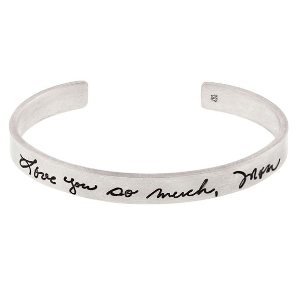 Handwritten Message Flat Cuff