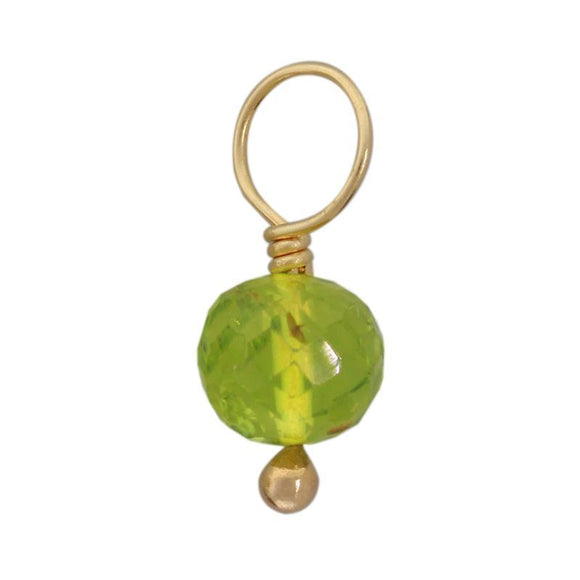 Peridot Faceted Ball Gemstone