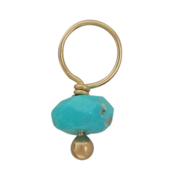 Turquoise Faceted Rondelle Gemstone