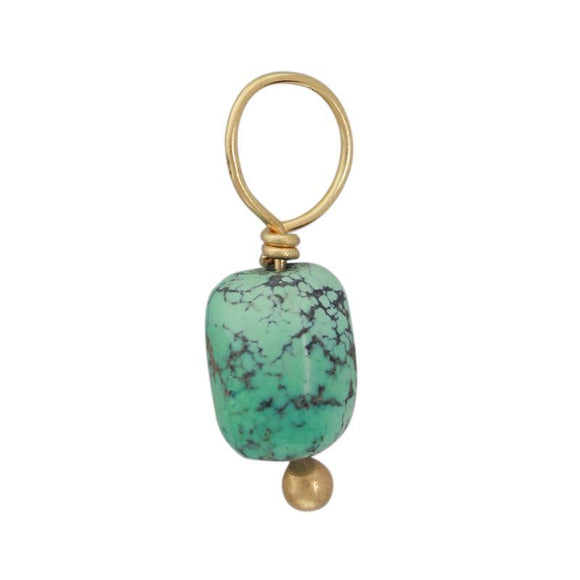 Vein Turquoise Unfaceted Cylinder Gemstone