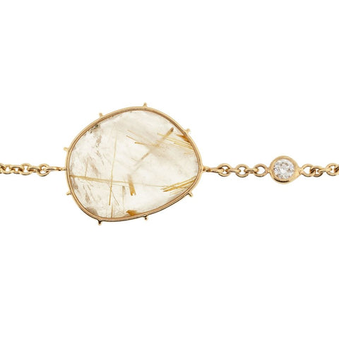 Gold Rutilated Quartz Harriet Bracelet