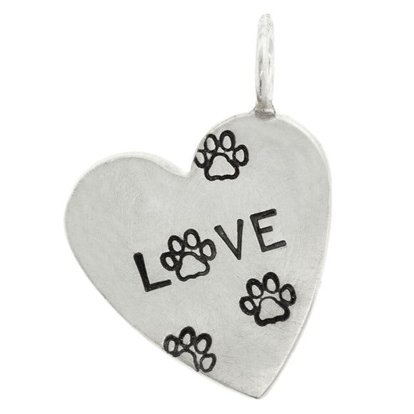 Pet Love Heart Charm